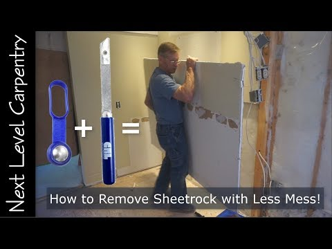 How To Remove Sheetrock With Less Mess