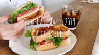 Vlog #35 のんびり主婦の毎日 [よくばりBLTサンド、シーツ洗濯、紅白カプレーゼでお祝い晩御飯]