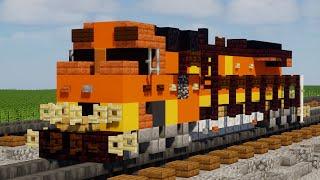 Minecraft BNSF C44-9W 1:1 Scale Train Tutorial