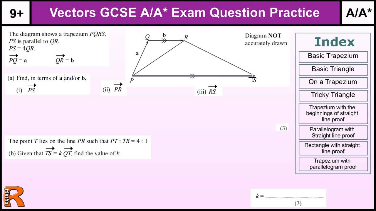 worksheet Vectors Worksheet how to do vectors aa gcse maths revision higher level worked exam questions inc straight lines youtube
