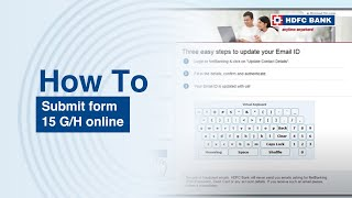 How to submit form 15 G/H online