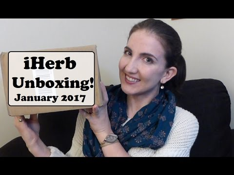 iHerb Haul Unboxing January 2017 | Healthy Food, Supplements & Beauty Products