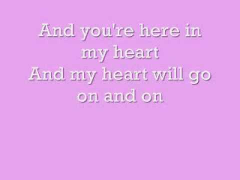 CELINE DION - MY HEART WILL GO ON LYRICS