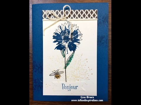 Card Making Video With Stampin Up Touches Of Texture Youtube