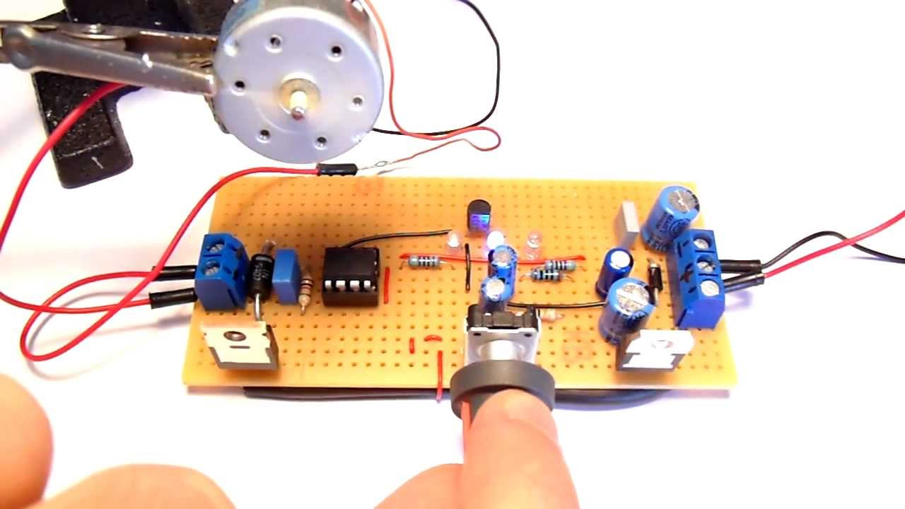 dc motor speed controller youtube