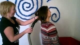 волосы и пылесос)