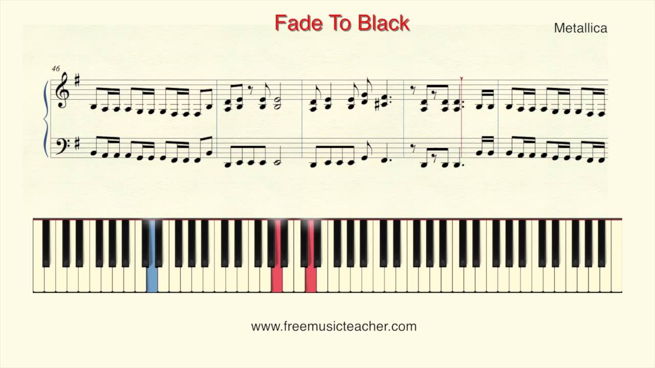 How To Play Piano Metallica Fade To Black Piano Tutorial By Ramin Yousefi