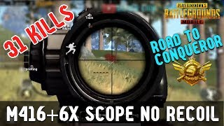31 Kills!! M416+6x Scope NO RECOIL! Gameplay by Silver Lion ft. Team Rage | PUBG Mobile Malaysia