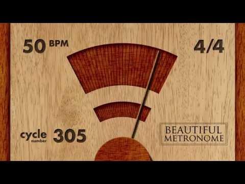 50 BPM 4/4 Wood Metronome HD