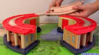 Double Decker Roundhouse Playset Chuggington Wooden Railway By Toycollector Blucollection