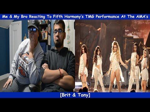 Me & My Bro Reacting To Fifth Harmonys TMG Performance At The AMAs