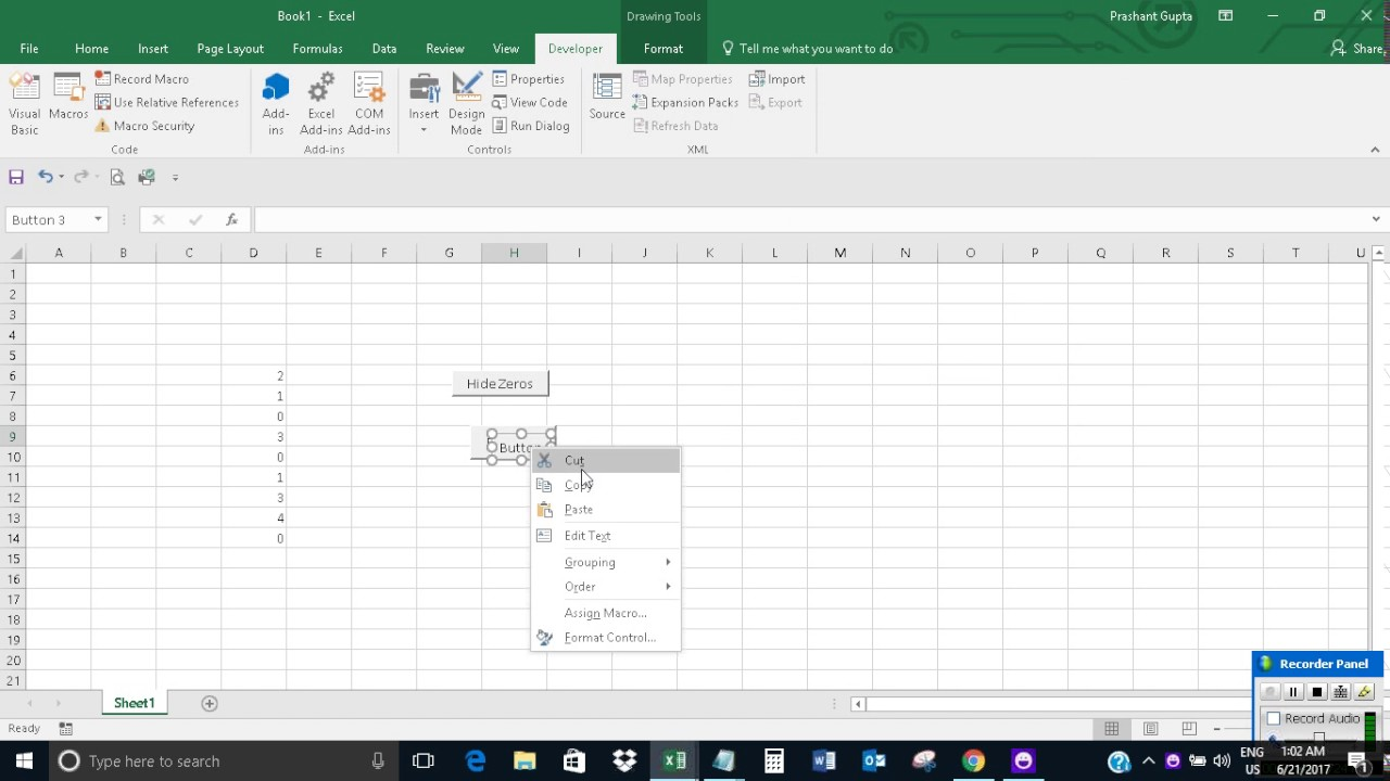 HidingUnhiding zeros from all worksheets in Excel YouTube – Grouping Worksheets in Excel