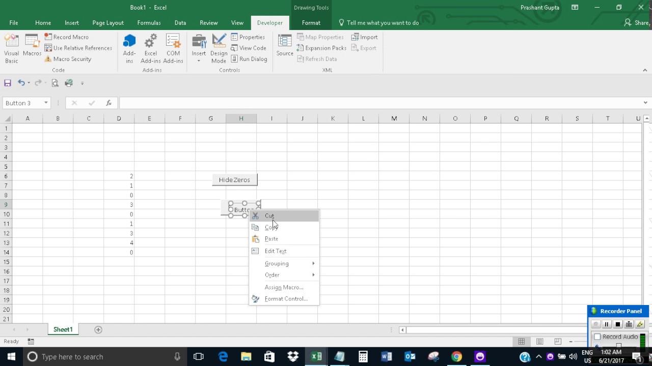 worksheet Grouping Worksheets In Excel hidingunhiding zeros from all worksheets in excel youtube excel