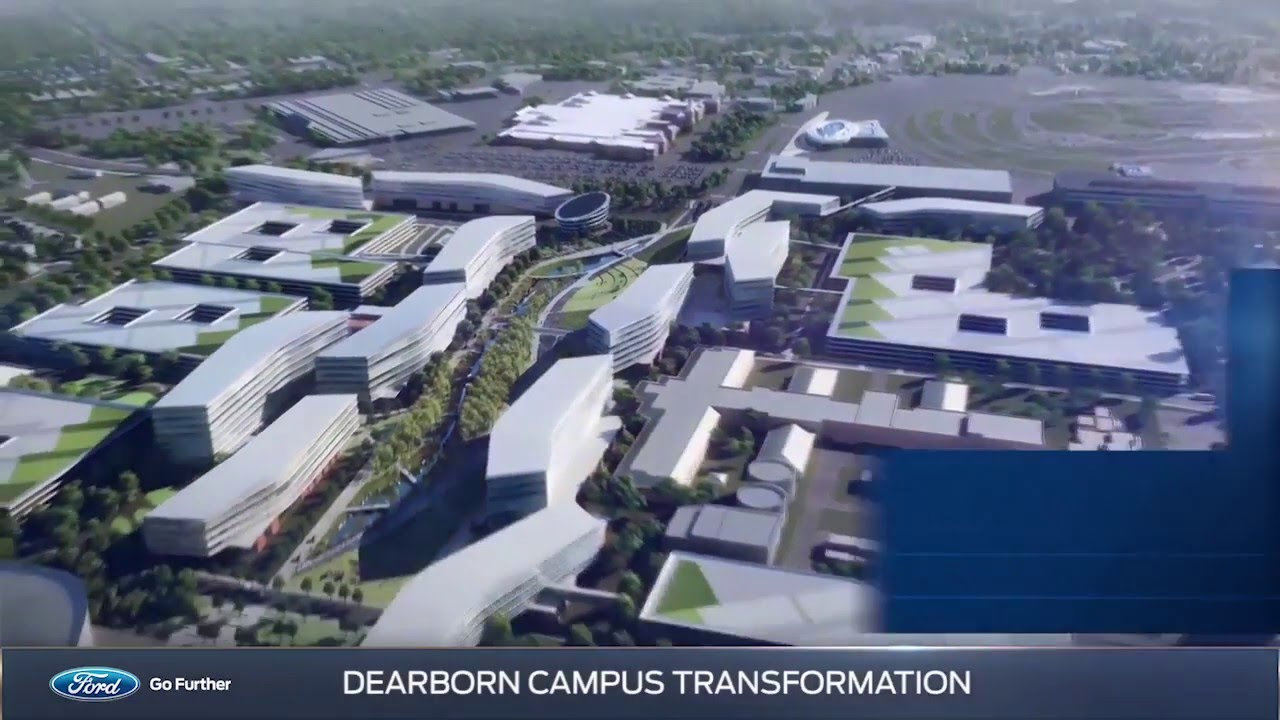 ford dearborn campus map Ford S Future Campus In Dearborn Mi Youtube ford dearborn campus map