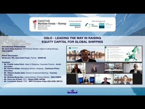 2021 Capital Link Maritime Forum - Norway: Oslo - Leading The Way in Raising Equity Capital