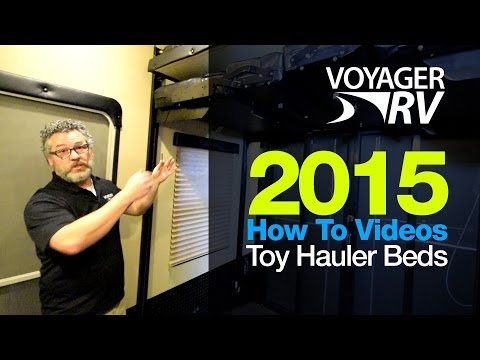 2015 Grand Design Momentum Toy Hauler 5th Wheel Electric Bed Operation - Voyager RV How To's