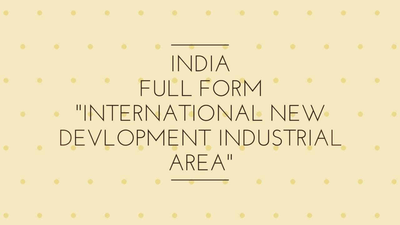 INDIA full form - YouTube