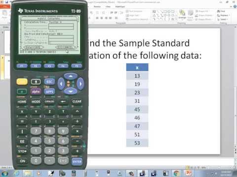 Statistics sample standard deviation ti89 statistics sample standard deviation ccuart Choice Image