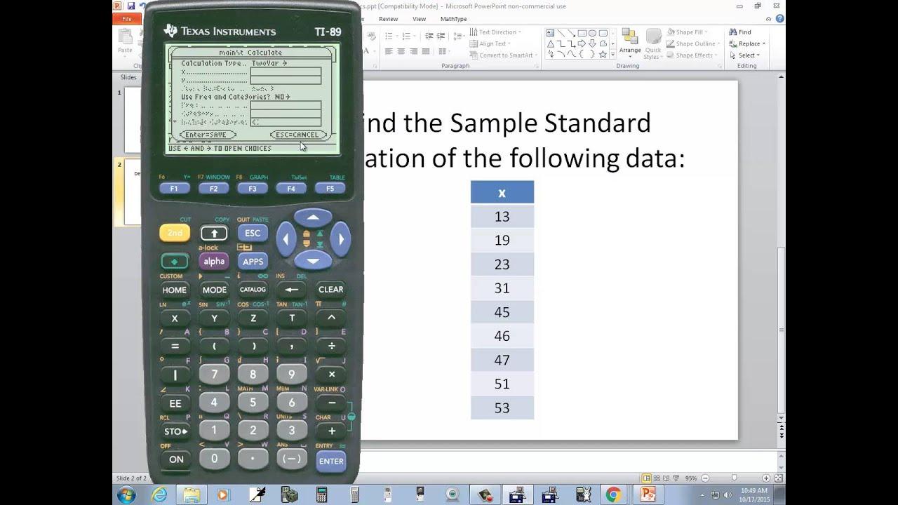 Ti89 statistics sample standard deviation youtube ti89 statistics sample standard deviation ccuart Choice Image