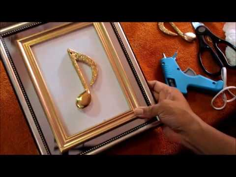 Dollar Tree Holiday DIY Mirrored Music Notes