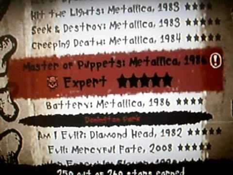 Guitar Hero Metallica All Songs Expert Setlist Tiesco Youtube