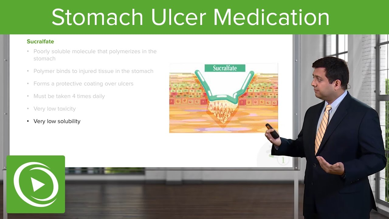 Stomach Ulcer (Peptic Acid Disease) Medication – Pharmacology | Lecturio