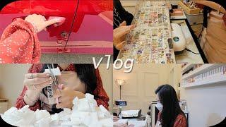 nail vlog   네일샵 브이로그 (쉬는시간이 없는…
