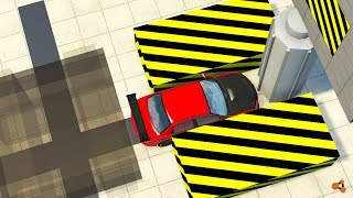 Beamng drive - Cars Press-Crusher with giant Roller