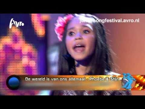 Phoebe en Stijn - De wereld is van ons allemaal  (Junior Songfestival 2010)