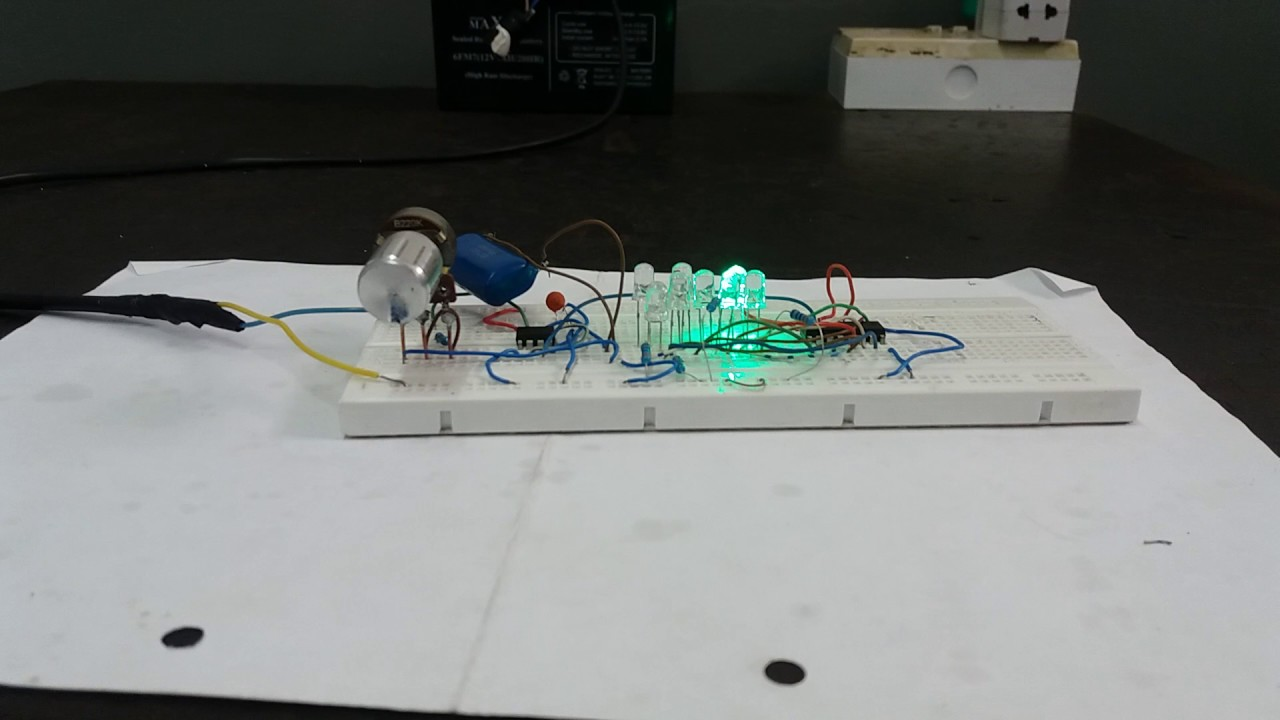 Led flasher circuit using cd 4017 and n 555 ic - YouTube