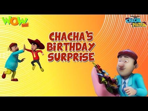Chacha's Birthday Surprise- Chacha Bhatija - 3D Animation Cartoon for Kids - As seen on Hungama TV