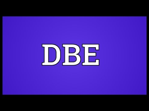 DBE Meaning