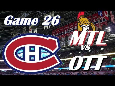 NHL - Montreal Canadiens vs Ottawa Senators - November 29, 2017