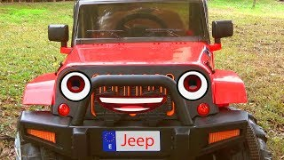 Jeep stuck in the mud Funny Paw Patrol ride on POWER WHEEL Tractor to help