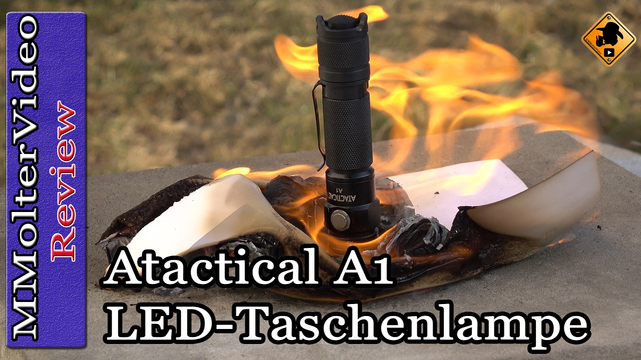 atactical a1 led taschenlampe review test youtube. Black Bedroom Furniture Sets. Home Design Ideas