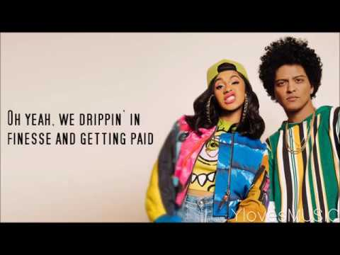 Bruno Mars ft Cardi B  Finesse Lyrics
