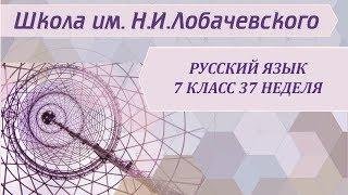 Русский язык 7 класс 37 неделя Повторение. Разделы науки о языке