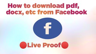 How to download file from Facebook? | How to download document from Facebook? || screenshot 2