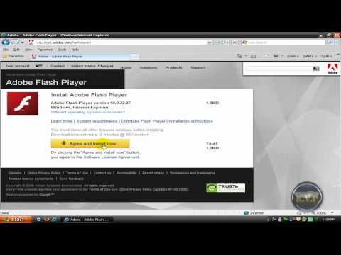 How to fix Adobe Flash player error