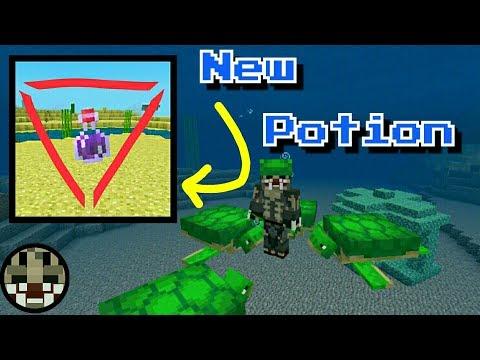 POTION OF THE TURTLE MASTER || Update Aquatic || Minecraft PE Beta 1 5 0 4  || AGCraft
