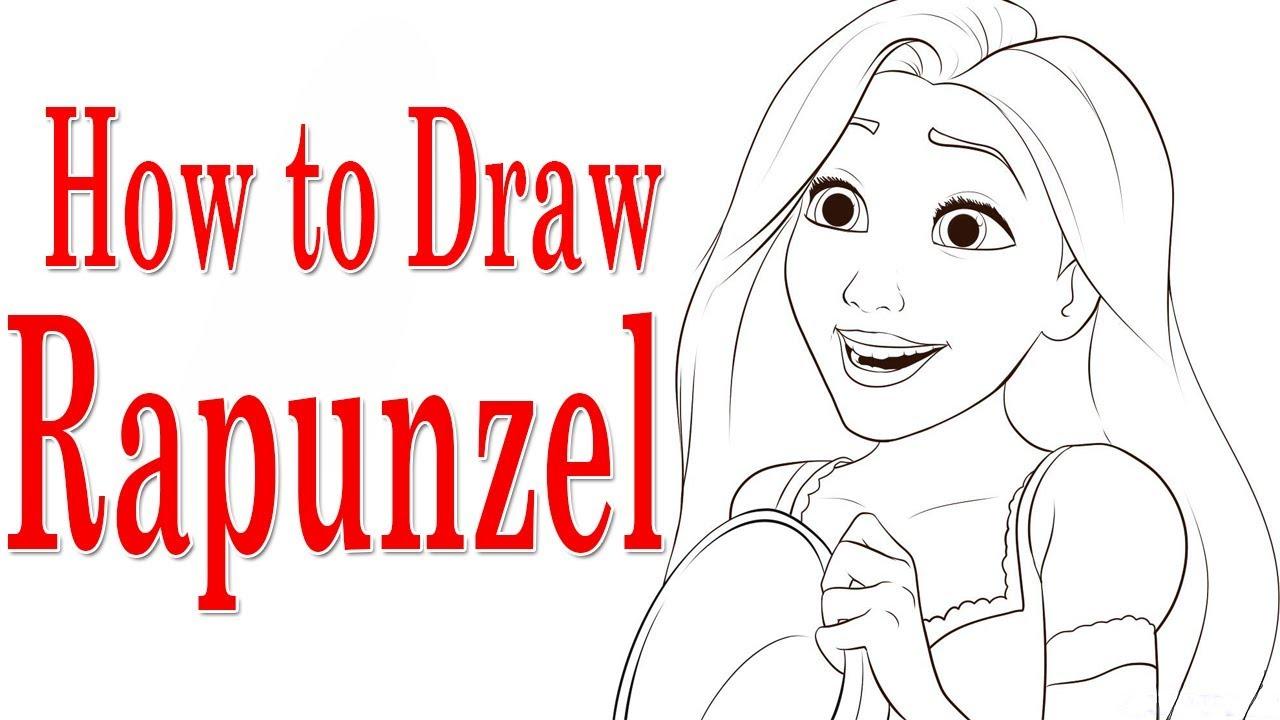 How to draw Rapunzel