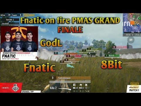 #Fnatic #8BIT #GODL PMAS First Match Highlights Fnatic Win This Match