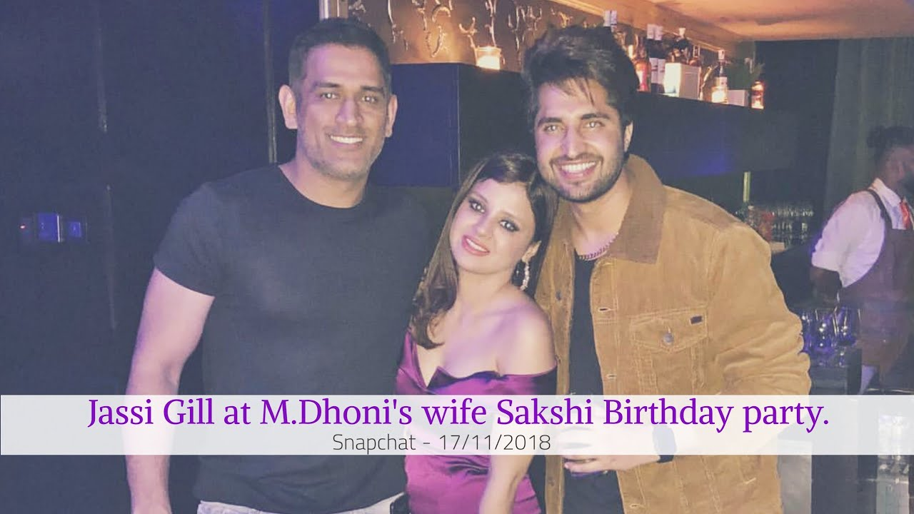 Jassi Gill at M  Dhoni's wife Sakshi Birthday party, Instagram - 18/11/2018