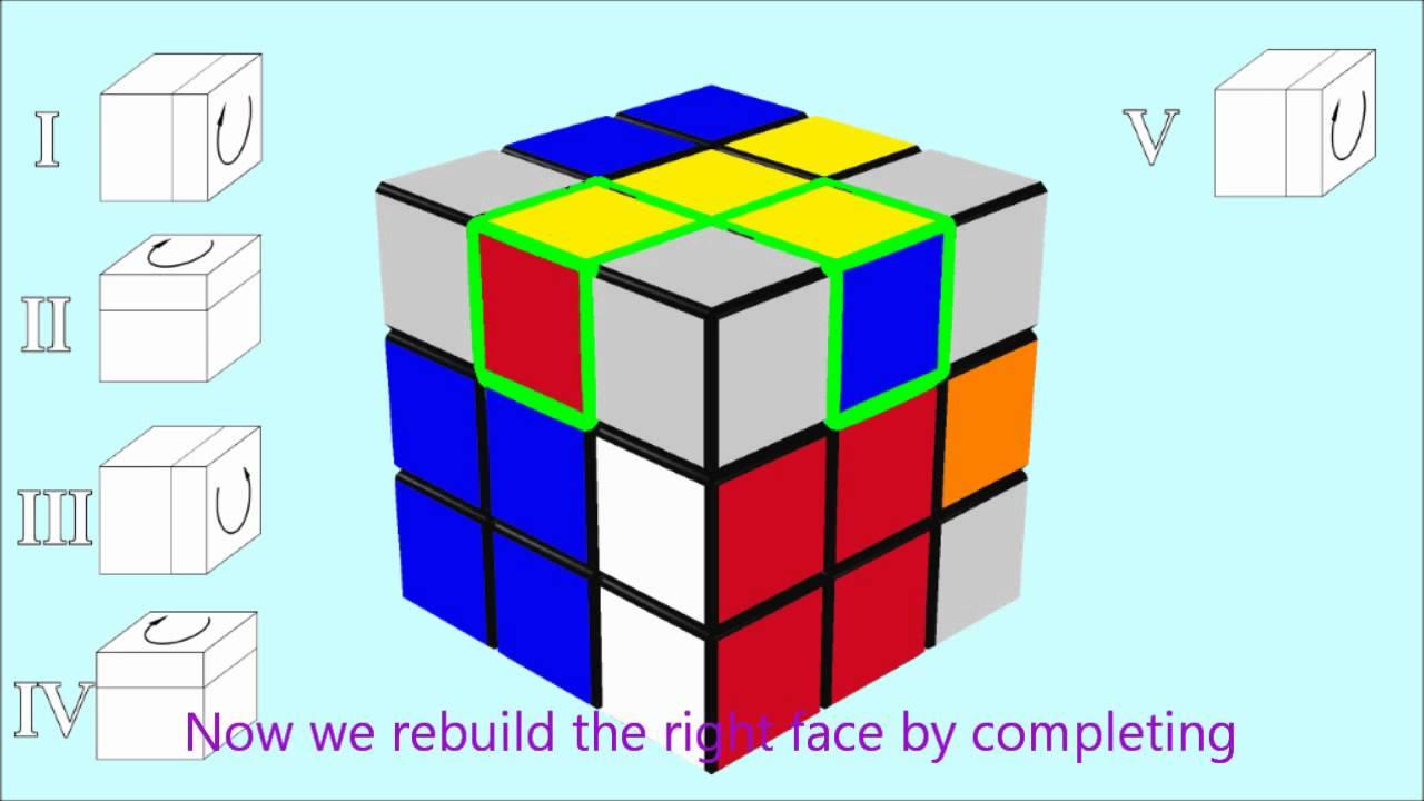 solve the Rubik's Cube: 6 - yellow edges - YouTube