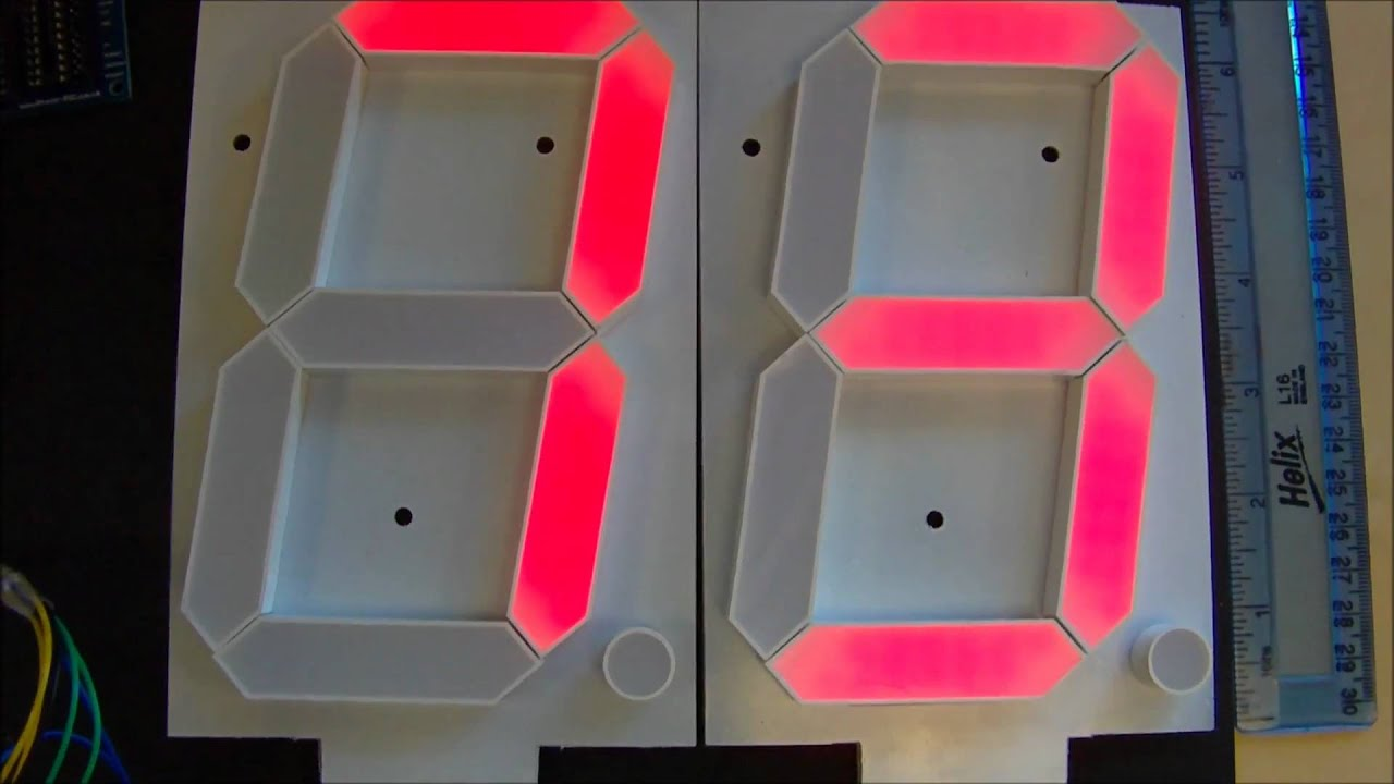 7 Segment Red 6 5 Quot Displays Running Com 08530 Youtube