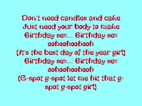 Birthday day sex lyrics beefy...i
