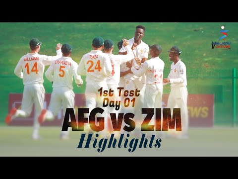 Afghanistan vs Zimbabwe Highlights | 1st Test | Day 1 | Afghanistan vs Zimbabwe in UAE 2021