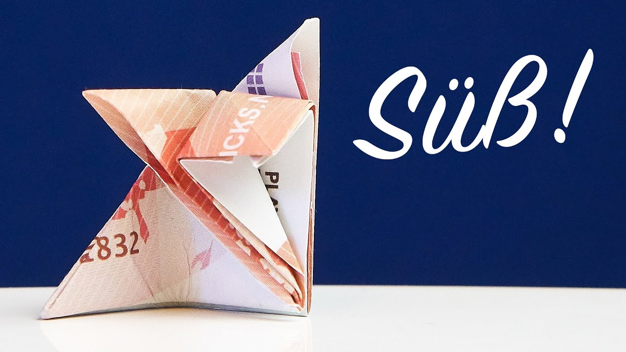 geldgeschenk katze falten origami anleitung youtube. Black Bedroom Furniture Sets. Home Design Ideas