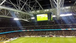 1-0 målet i Sverige-Italien VM play-off - målskytt Jakob Johansson firas på Friends Arena