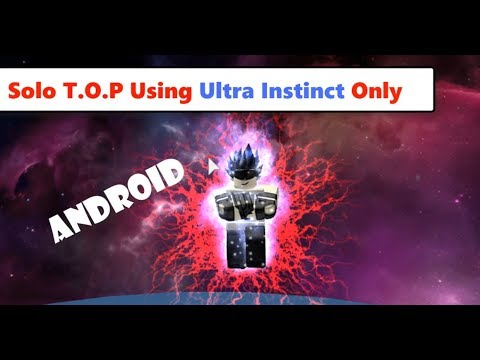 Solo T.O.P Using Ultra Instinct Only | Dragon Ball Z Final Stand